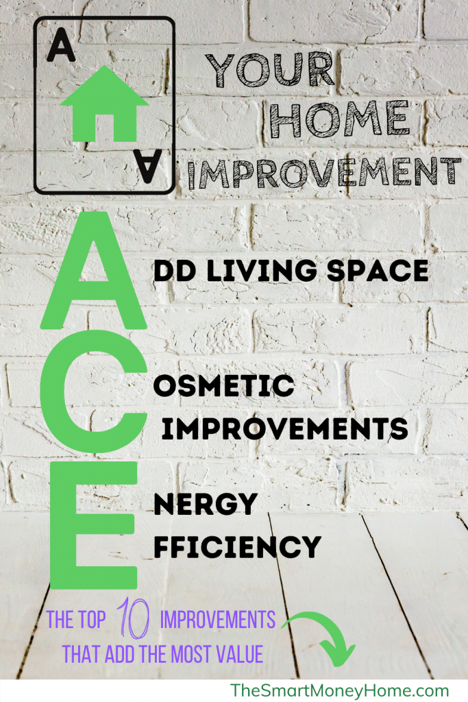 Ace Your Home Improvement. The top 10 improvements that add the most value to your home