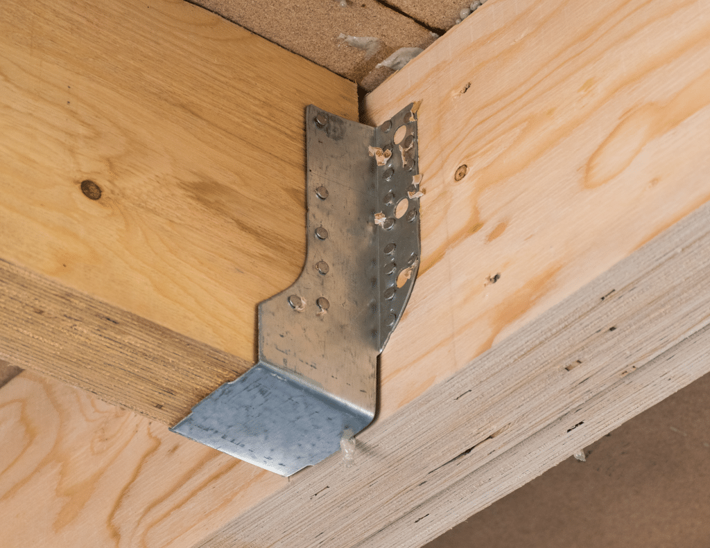 Building a deck with under-mounted fasteners